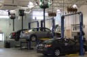 Professional vehicle lifting equipment at Dick Smith Ford Body Shop , located at Columbia, SC, 29209, allows our damage technicians a clear view of what might be causing the problem.