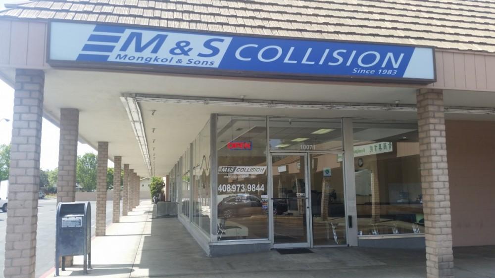 M & S Collision - Cupertino 10071 E Estates Dr.  Cupertino, CA 95014    Centrally located for our guests convenience