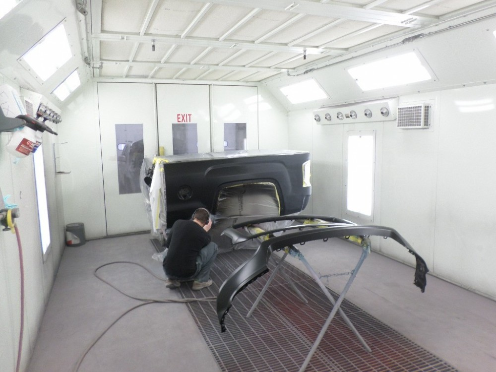 A professional refinished collision repair requires a professional spray booth like what we have here at Fix Auto Valley in Wasilla, AK, 99654.