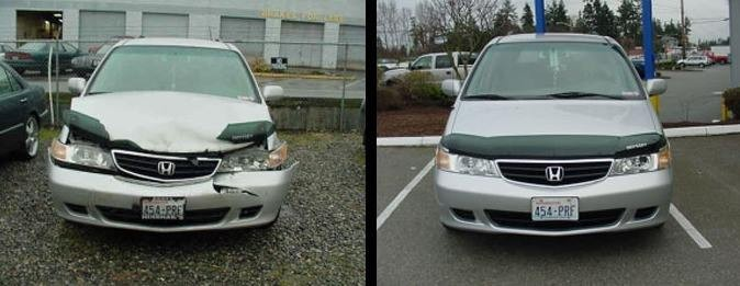 Absolute Auto Body - Lynnwood 17830 Hwy 99  Lynnwood, WA 98037   We Proudly Post Before & After Repair Photos..