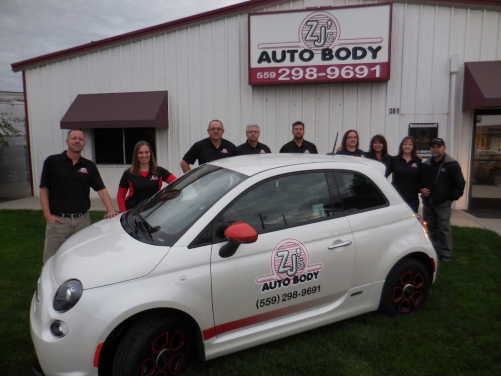 ZJ's Auto Body 361 N. Minnewawa  Clovis, CA 93612  Our Up Front Staff are friendly and very helpfully when handling your collision repair needs.