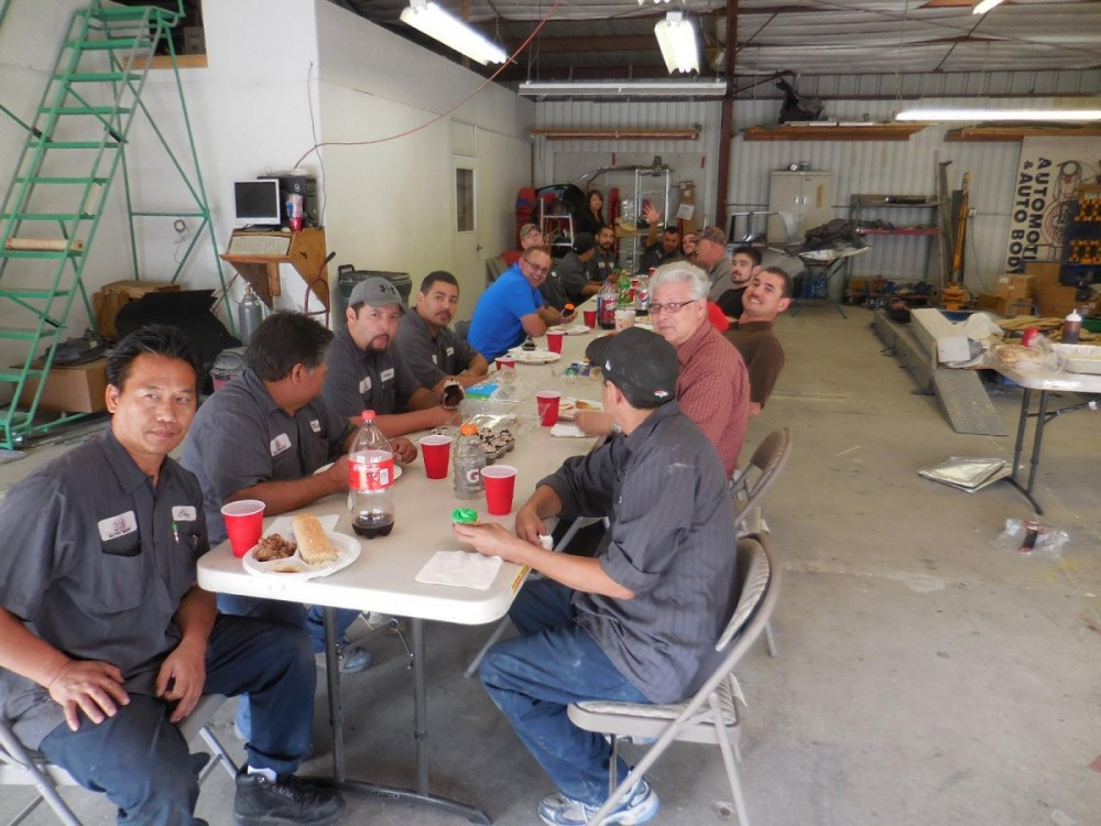ZJ's Auto Body 361 N. Minnewawa  Clovis, CA 93612    High Spirits along with Years of Experience goes into every collision repair at ZJ's Auto Body..