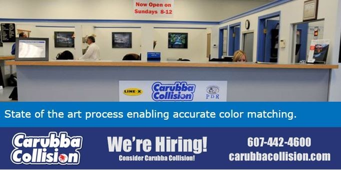 Our body shop's business office located at Scotia, NY, 12302 is staffed with friendly and experienced personnel.