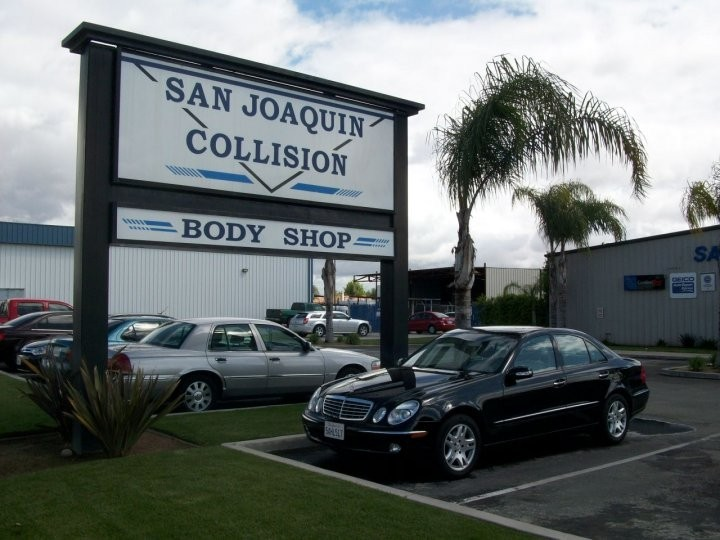 San Joaquin Collision 3816 Fruitvale Ave.  Bakersfield, CA 93308-5112   Our location has ample parking for our customers.