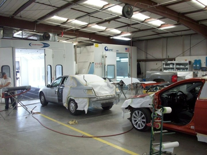 San Joaquin Collision 3816 Fruitvale Ave.  Bakersfield, CA 93308-5112   Our large refinishing department is fully equipped to handle high volume & high quality.