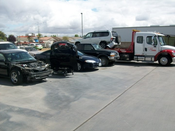 San Joaquin Collision 3816 Fruitvale Ave.  Bakersfield, CA 93308-5112  Our shop has a large parking & storage area for our customer's vehicles.