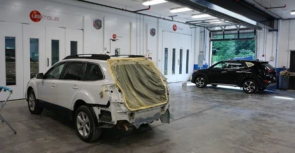 A professional refinished collision repair requires a professional spray booth like what we have here at Fishkill Auto Body in Beacon, NY, 12508.
