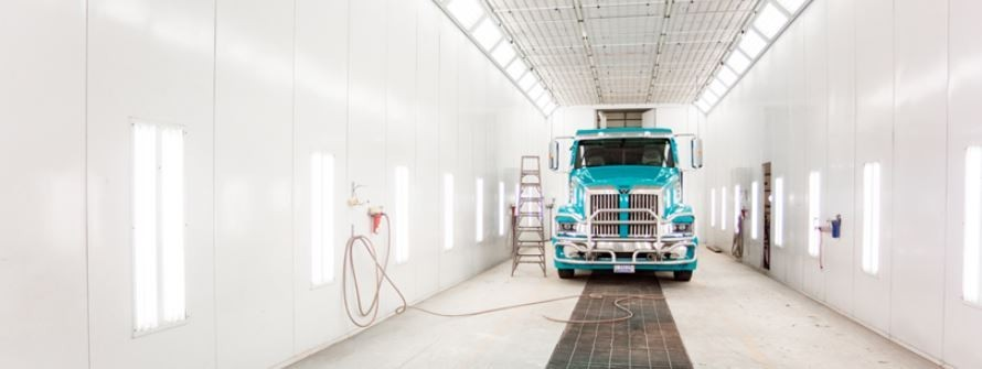 A professional refinished collision repair requires a professional spray booth like what we have here at J & J Truck & Auto Body in Rapid City, SD, 57703.
