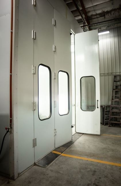 A neat and clean and professional refinishing department is located at J & J Truck & Auto Body, Rapid City, SD, 57703