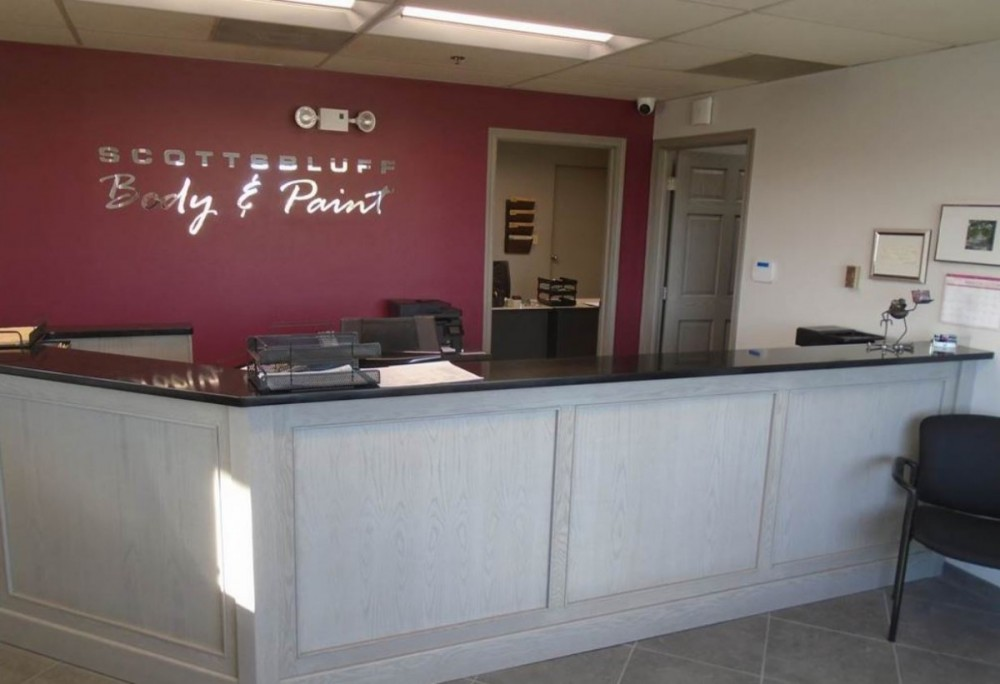 Our body shop's business office located at Scottsbluff, NE, 69361 is staffed with friendly and experienced personnel.