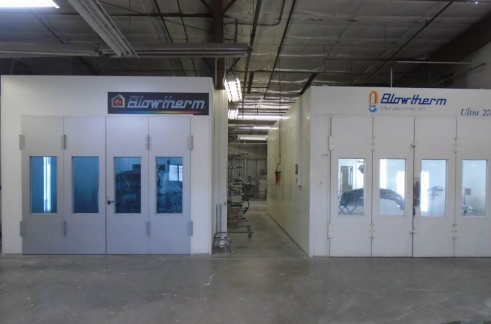 A neat and clean and professional refinishing department is located at Scottsbluff Body & Paint, Scottsbluff, NE, 69361
