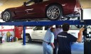 Professional vehicle lifting equipment at Autobody Advantage Of Thompson's Station, located at Thompsons Station, TN, 37179, allows our damage technicians a clear view of what might be causing the problem.