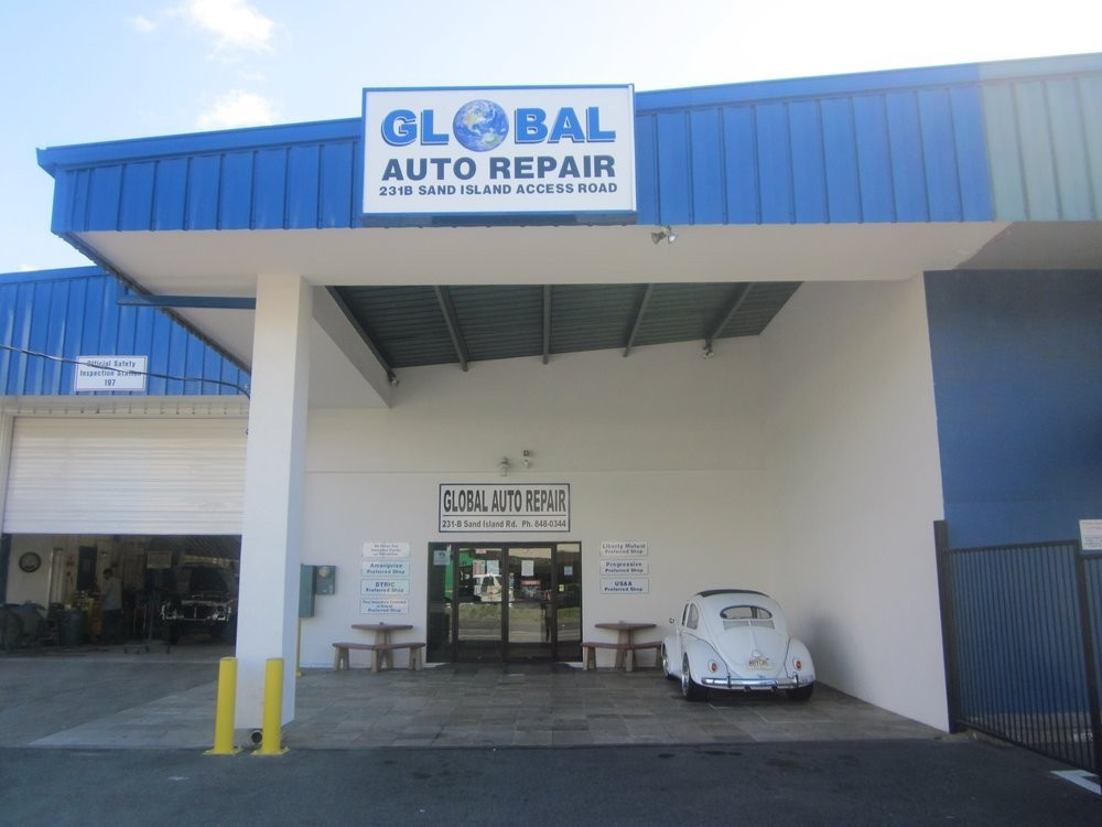 Global Auto Repair 231-B. Sand Island Access Road  Honolulu, HI 96819 Auto Collision Repair Experts.  Auto Body & Painting.  We are a large collision repair facility with covered parking for our customer's damage inspections..