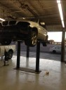 Professional vehicle lifting equipment at My Collision Center - Loop 410, located at San Antonio, TX, 78238, allows our damage estimators a clear view of all collision related damages.