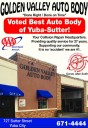 At Golden Valley Auto Body, in Yuba City, CA, we proudly post our earned certificates and awards.