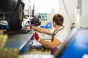 Professional vehicle lifting equipment at Alioto's Garage - Folsom, located at San Francisco, CA, 94103, allows our damage technicians a clear view of what might be causing the problem.