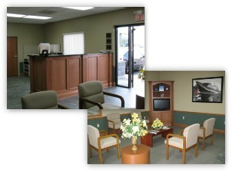 North Olmsted Collision Center 28415 Lorain Road  North Olmsted, OH 44070 Automobile Collision Repair Experts.  Our Business Office and Guests Waiting Area is warm and inviting.  Auto Body and Painting.