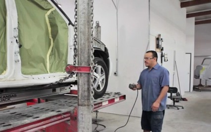 Professional vehicle lifting equipment at Auto Body Of San Marcos, located at San Marcos, CA, 92069, allows our damage estimators a clear view of all collision related damages.