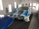 A professional refinished collision repair requires a professional spray booth like what we have here at Precision Body Shop & Detail in Colma, CA, 94014.