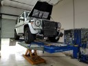 Professional vehicle lifting equipment at My Collision Center - Oakland, located at San Antonio, TX, 78240, allows our damage estimators a clear view of all collision related damages.