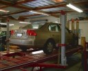 Professional vehicle lifting equipment at Auto Body Excellence, located at Poway, CA, 92064-4807, allows our damage estimators a clear view of all collision related damages.