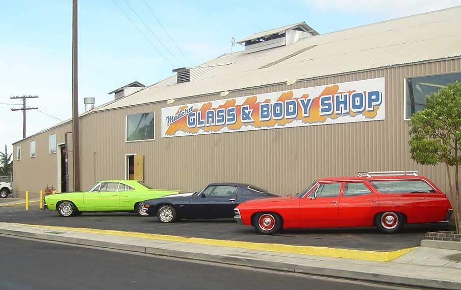 Madera Glass & Body Shop 105 E Central  Madera, CA 93638  We Proudly Display Our Show Quality Inventory..  We Are Centrally Located With Easy Access For Our Customers..