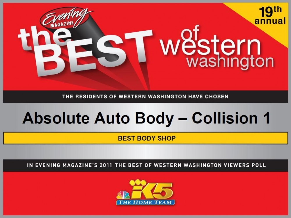 Absolute Auto Body - 17830 Hwy 99  Lynnwood, WA 98037     Large State of the Art Facility