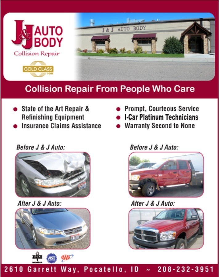 J & J Auto Body 2610 Garrett Way Pocatello, ID 83201 Collision Repair Experts. Auto Body & Painting Specialists.