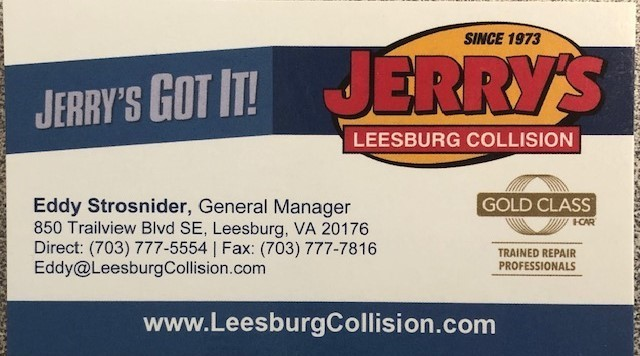 At Jerry's Leesburg Collision, located at Leesburg, VA, 20175, we have friendly and very experienced office personnel ready to assist you with your collision repair needs.
