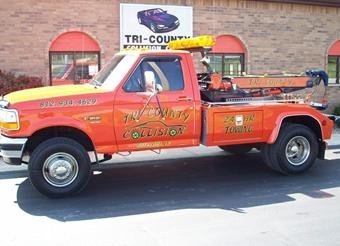 Here at Tri County Collision Inc, we have towing available for those in need. Just give us a call!