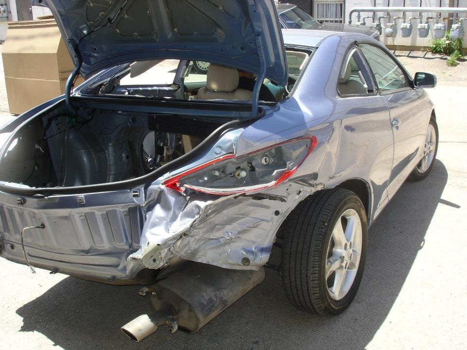 Heavy Rear-End Collision Damage can carry Thru-Out the Vehicle's Structure. Here at Drury Body Shop we know exactly how to fix this.