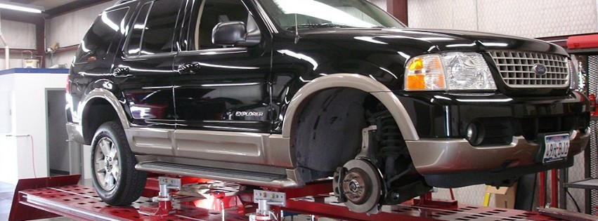 Accurate alignments are the conclusion to a safe and high quality repair done at Drury Body Shop, Amarillo, TX, 79109