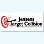 Jensen's Target Collision Erie PA 16505-3945 Logo. Jensen's Target Collision Auto body and paint. Erie PA collision repair, body shop.