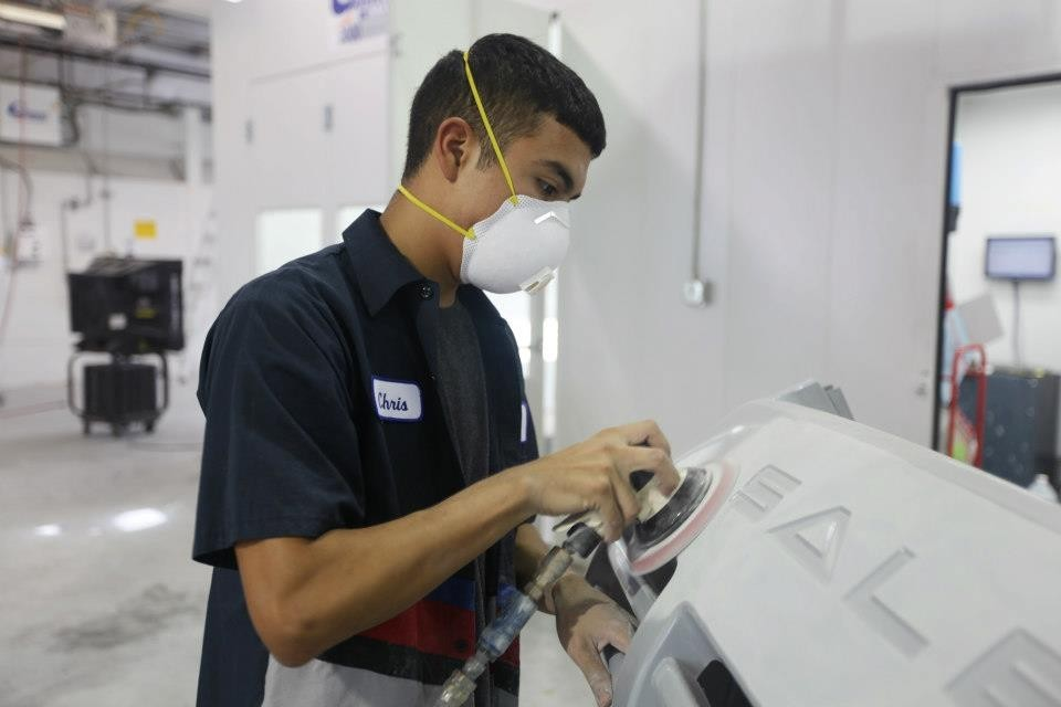 Gullo Ford Collision Center 925 I 45 S  Conroe, TX 77301  Prepping Technicians are Very Skilled at what  they do.