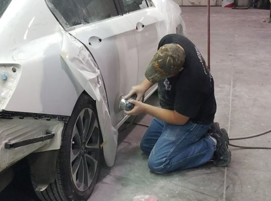 The color sand and buffing process is like putting the icing on a cake.  It just makes it better. These technicians are like jewelry polishers, they are an artist to their trade.  This process gives the vehicle's finish a mirror like feel and look.  At Lewis Collision Center, Springdale, AR, 72764, we have the best in our industry.