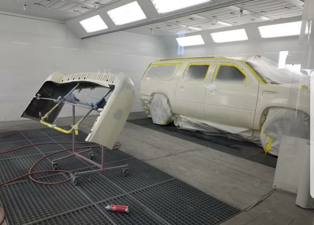 Platinum Collision Centers Eastvale - A professional refinished collision repair requires a professional spray booth like what we have here at Platinum Collision Centers Eastvale in Eastvale, CA, 92880.