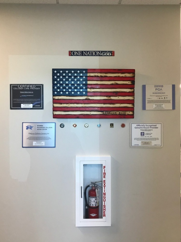 Platinum Collision Centers Eastvale - At Platinum Collision Centers Eastvale, in Eastvale, CA, we proudly post our earned certificates and awards.