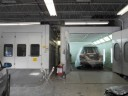 A neat and clean and professional refinishing department is located at IFM Collision Center, Bedford Hills, NY, 10507