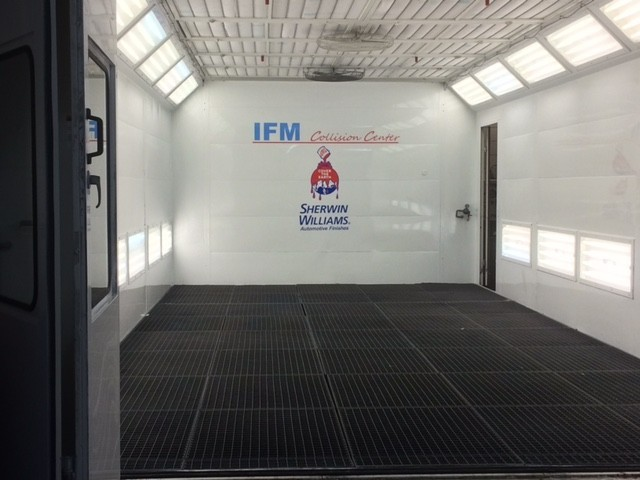 A professional refinished collision repair requires a professional spray booth like what we have here at IFM Collision Center in Bedford Hills, NY, 10507.