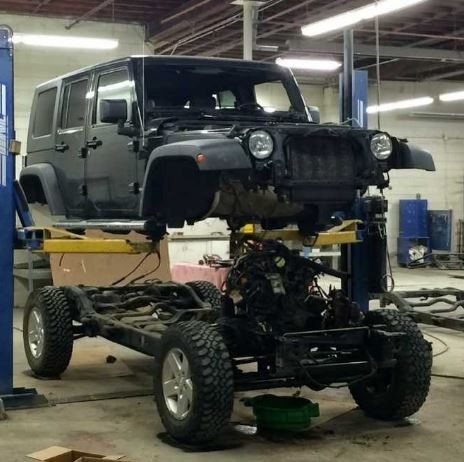 Professional vehicle lifting equipment at Lithia Downtown Body And Paint, located at Spokane, WA, 99204, allows our damage estimators a clear view of all collision related damages.