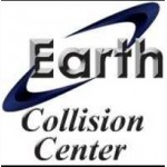 Earth Collision Center Carrollton TX 75006 Logo. Earth Collision Center Auto body and paint. Carrollton TX collision repair, body shop.