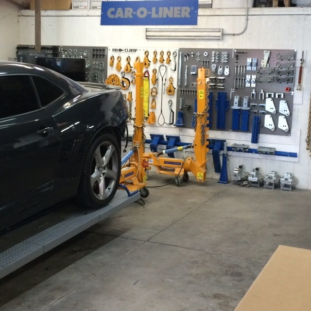 1stCertified Collision Center - Highland - Professional vehicle lifting equipment at 1stCertified Collision Center - Highland, located at Highland, CA, 92346, allows our damage estimators a clear view of all collision related damages.