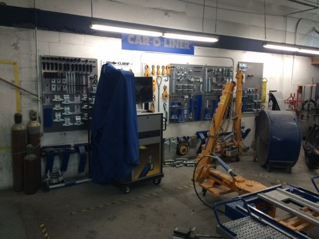 1stCertified Collision Center - Redlands - Professional vehicle lifting equipment at 1stCertified Collision Center - Redlands, located at Redlands, CA, 92374, allows our damage estimators a clear view of all collision related damages.