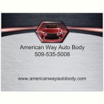 American Way Auto Body Spokane Valley WA 99212 Logo. American Way Auto Body Auto body and paint. Spokane Valley WA collision repair, body shop.
