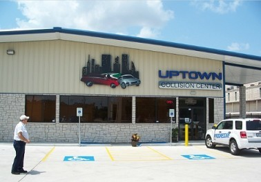 Uptown Collision 6106 Fairdale Ln.  Houston, TX 77057 Auto Body & Paint Specialists.   Our state of the art Collision Repair Shop has easy access for our guests.