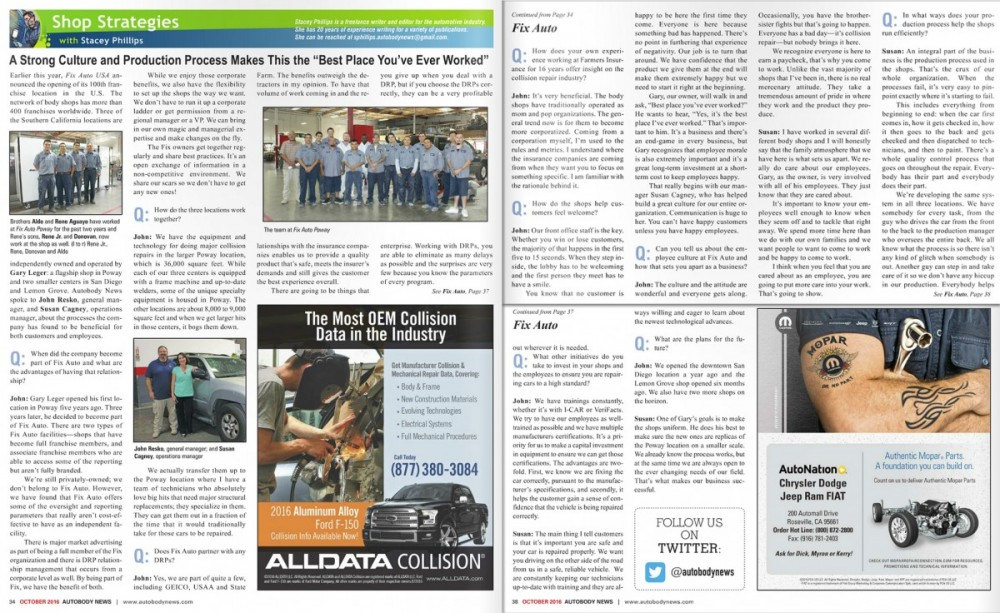 Read about Fix Auto Downtown San Diego in Autobody News and come visit our location today!