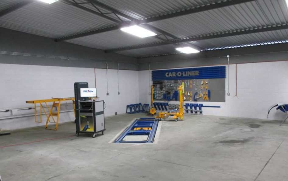 A neat and clean and professional refinishing department is located at Premium Collision Center, Inc., West Hollywood, CA, 90038