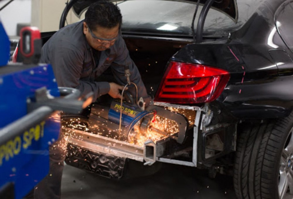 All of our body technicians at Premium Collision Center, Inc., West Hollywood, CA, 90038, are skilled and certified welders.