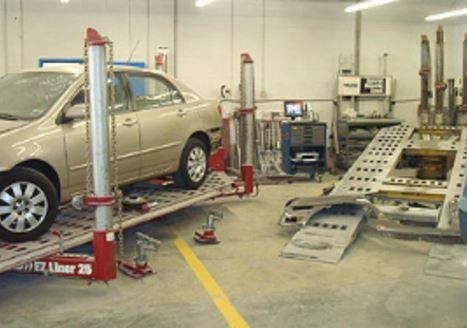 A professional refinished collision repair requires a professional spray booth like what we have here at Johnson Body Shop in Durham, NC, 27704.