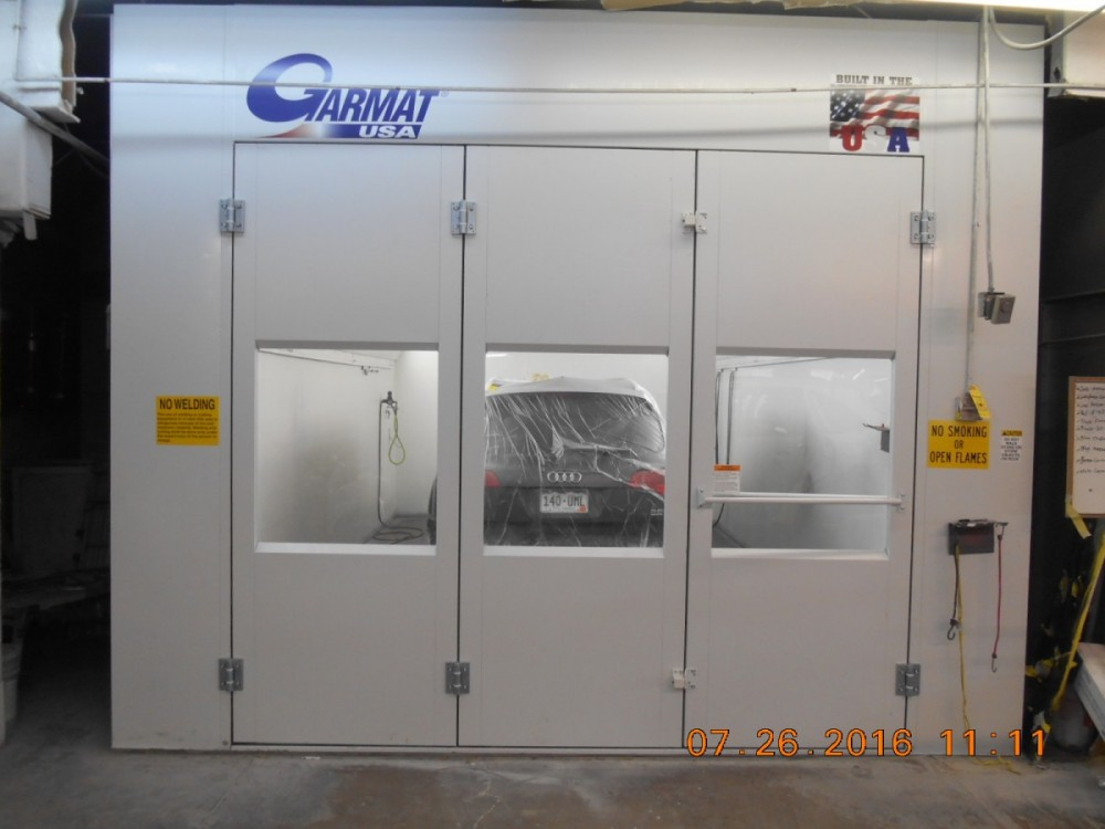 A professional refinished collision repair requires a professional spray booth like what we have here at Fairway Collision Center, Inc. in Englewood, CO, 80112.